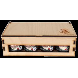 Krabička s osmi 40ml omáčkami